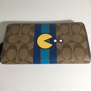 Coach Pac-Man Accordion Wallet